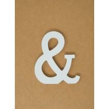 Letra corporea madera 11 cm &