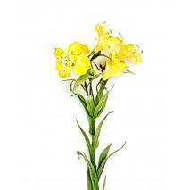 Alstroemeria artificial luxe x 5 flores amarilla