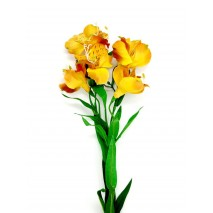 Alstroemeria artificial x 5 flores naranja