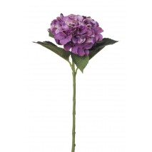 Hortensia artificial x 1 flor grande lila