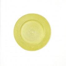 Bajoplato cristal redondo dorado d.32cm