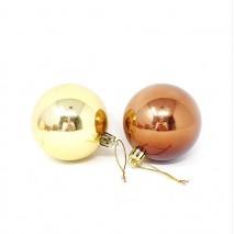 Bolsa 10 bola navidad d. 7 cm cobre/oro brillo