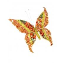 Detalle navideño mariposa 15 cm cobre