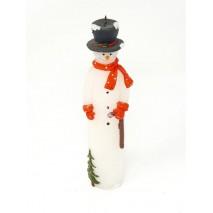 Vela muñeco nieve 22 cm