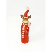 Vela muñeco reno 22cm
