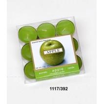 Vela c/base metal s/9 olor manzana