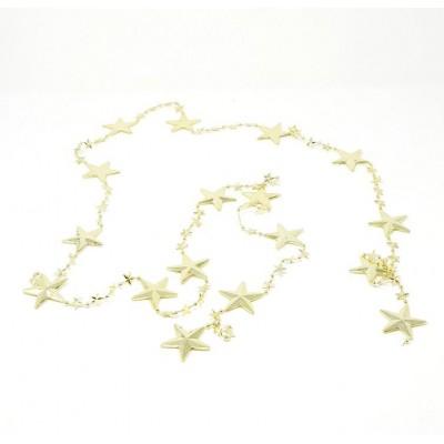 Guirnalda navidad d.3cm estrella 2,10mtos dorada