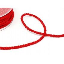 Metro cordón rayón  6mm rojo