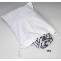 Bolsa ropa sucia tela nido abeja blanco