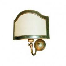 Lámpara aplique bronce envejecido c/media pantalla pergamino 25 x 19 x 31cm