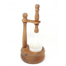 Escobillero suelo madera encerada vaso porcelana 38 x 17cm