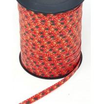 Rollo cinta papel 7mm x 250 mts. rojo motivo abeto/estrellas