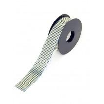 Rollo cinta papel metalizada 31mm x 50 mtos. cuadros azules