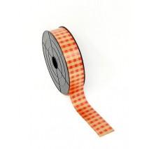 Rollo cinta papel 31mm x 100 yds cuadros dorada/rojo