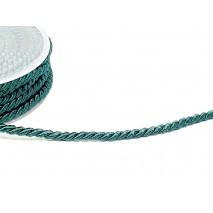 Rollo cordón rayón  6 x 15 mts. verde