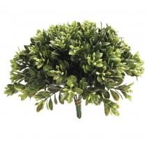 Pick plástico verde boj c/flor