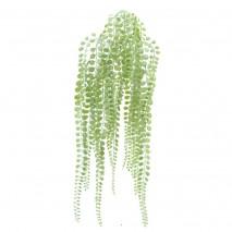 Colgante plástico boj verde flocado x 63cm