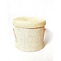 Ropero costurero redondo cuerda natural d 27cm x Alt 22cm
