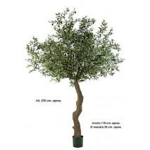 Árbol olivo artificial x 10064 hojas x 180 frutos Alt 270cm