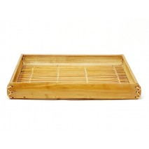 Bandeja rectangular bambú miel 37 x 26cm