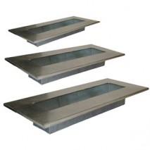 Alquiler bandeja rectangular latón envejecido 40 x 19 x 5cm