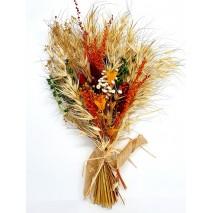 Composición atado flores secas