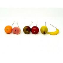 Caja 36 frutas mini artificiales d 4cm surtidas