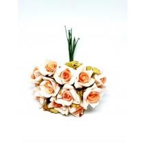 Pomito flor mini foam rosa shang pico x 12 naranja