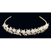 Tiara de novia 4018 cristal dorado
