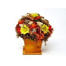 Centro flores secas d 18cm Alt 20cm