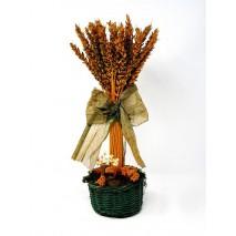 Centro flores secas trigo verde