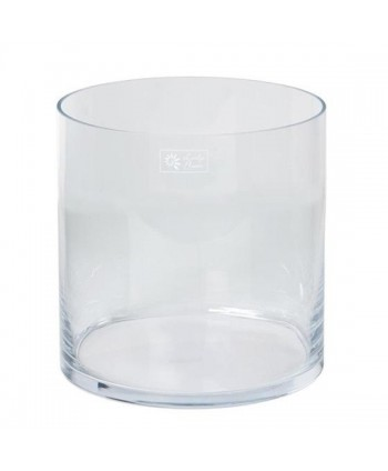 Florero cristal cilíndrico d 25cm Alt 25cm