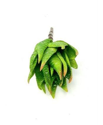 Planta artificial mini d 7cm cebra aloe pita plástico Alt 16cm