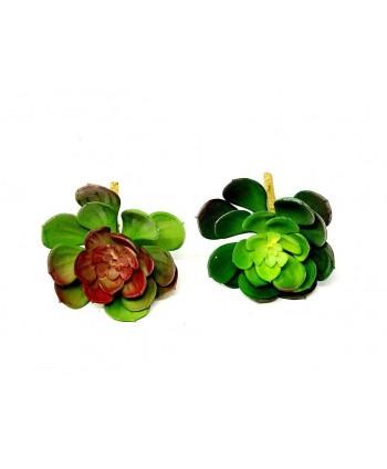 Planta artificial mini d 10cm crasa verde y verde/burdeos surtidas