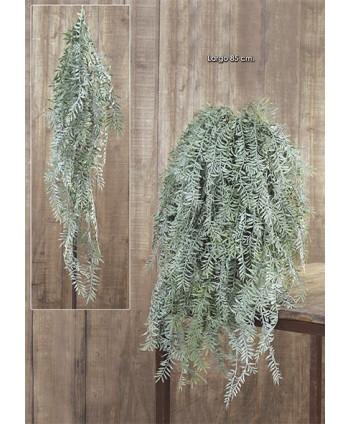 Colgante plástico royal fern 85cm verde
