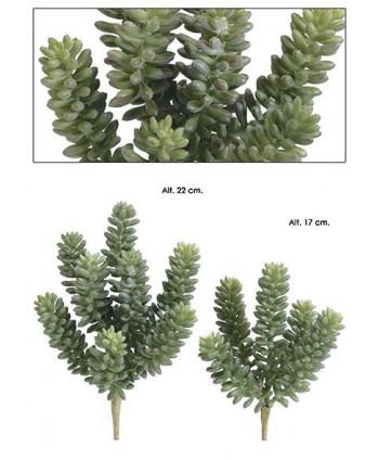 Planta artificial mini plástico sedum Alt 14cm