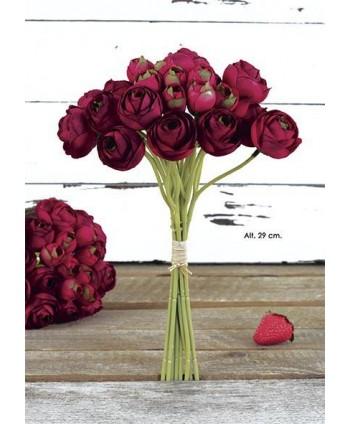Pomo bouquet ranunculus x 22 fl 30cm cereza