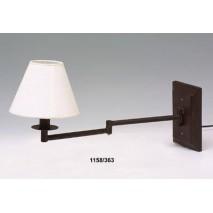 Lámpara pared adaptable brazo c/pantalla
