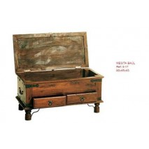 Mueble baul madera 90 x 45...