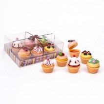 Brillo de labios cupcake 3 cm surtidos 6