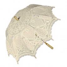 Sombrilla encaje bordado beige d.75 cm largo 78 cm