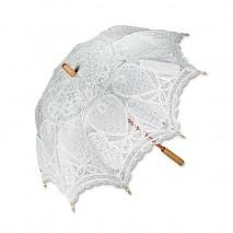 Sombrilla encaje bordado blanco d.75 cm largo 78 cm