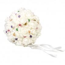 Bola rosas Beige d.22 cm  (Sin alfileres)