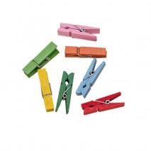 Pinzas madera 3,5 cm colores
