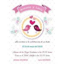 Invitación boda c/sobre...