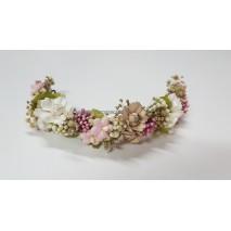 Corona abierta de niña línea Creta de 16 cm flores preservadas