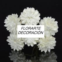 Flor aster 2,5 cm marfil