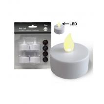 Caja 4 vela led 3,5 x 3,5 cm