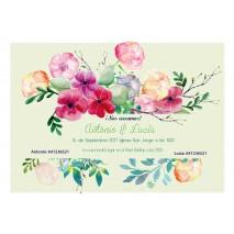 Invitacion boda c/sobre beig papel estucado mate 250 grs 12,5 x 18 cm