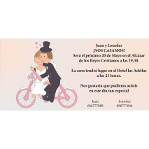 Invitacion boda c/sobre beig papel estucado mate 250 grs 9,5 x 22 cm